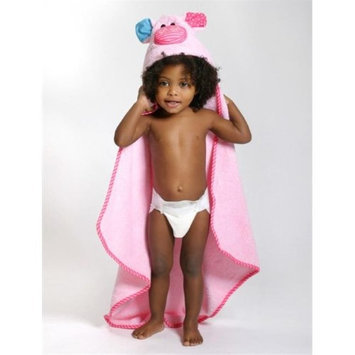 Zoocchini 11206 Pinky the Piglet Hooded Towel - 30 x 30 in.