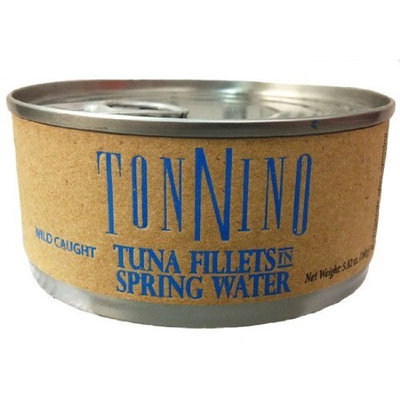 Tonnino Yellowfin Tuna Fillets in Spring Water 5.82 Oz. Cans (Pack of 12)