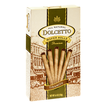 Dolcetto All Natural Premium Tiramisu Wafer Rolls