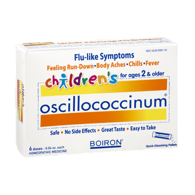 Boiron Children's Oscillococcinum Flu-Like Symptoms Homeopathic Medicine