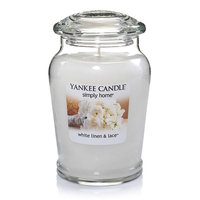Yankee Candle simply home White Linen & Lace 19-oz. Jar Candle (Linen Lace)