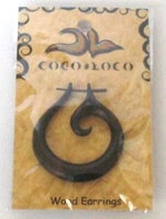 Wood Earring Large Black Coco Loco 1 Earring