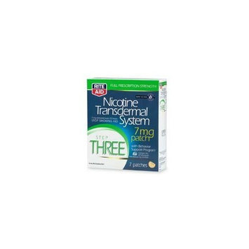 RITE AID NICOTINE TRANSDERMAL OPAQUE 7 MG PATCH STEP 3 ONE WEEK SUPPLY