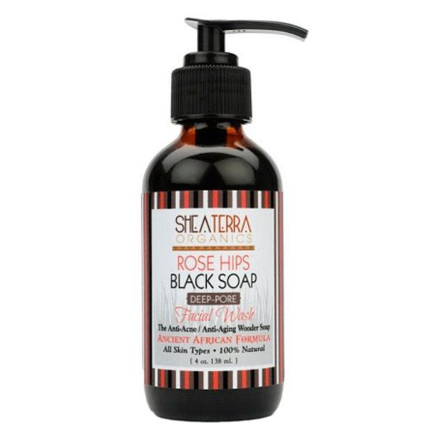 Shea Terra Organics Rose Hips Black Soap Deep Pore Facial Cleanser Reviews  2019