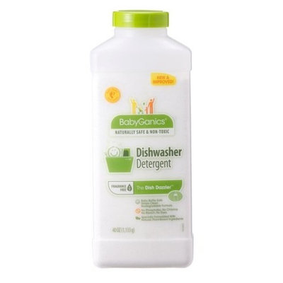 BabyGanics The Dish Dazzler Dish Washer Detergent, 1.18 L (40-Ounce)Bottle, Packaging May Vary