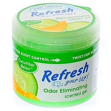 Handstands Refresh Your Car 4.5 oz Scented Gel Car and Home Air Freshener - Cucumber Melon Scent