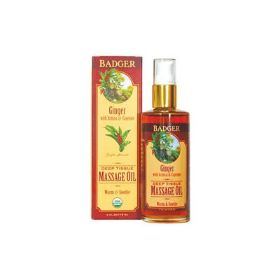 Badger Ginger Deep Tissue Massage Oil W/ Arnica