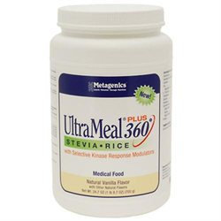 Metagenics - UltraMeal Plus 360 Stevia Rice Medical Food Natural Vanilla Flavor - 24.7 oz.