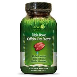Irwin Naturals Triple-Boost Caffeine-Free Energy Softgels