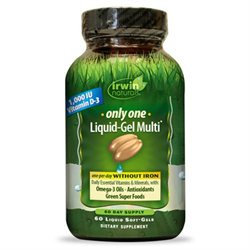 Irwin Naturals Only One Liquid-Gel Multi without Iron