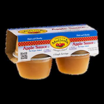 Officer Mullen's Chicago's Finest Apple Sauce No Sugar Added - 4 CT