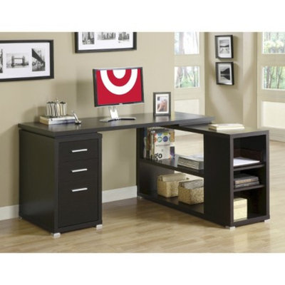 Monarch Specialties Corner Desk: Monarch Hollow Core Left or Right Facing Corner Desk -