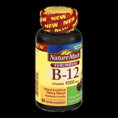 Nature Made B-12 Vitamin 1000mcg Micro-Lozenges Cherry Flavor - 50 CT
