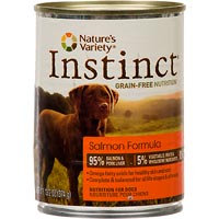 Nature's Variety Instinct Grain-Free Salmon Canned Dog Food, 13.2 oz, Case of 12