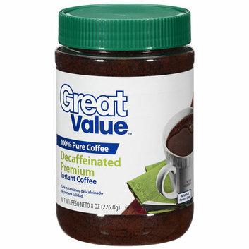 Great Value Premium Decaffeinated Instant Coffee
