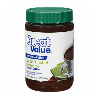 Great Value Premium Decaffeinated Instant Coffee