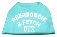 Mirage Pet Products 5102 XLAQ Aberdoggie UK Screenprint Shirts Aqua XL 16