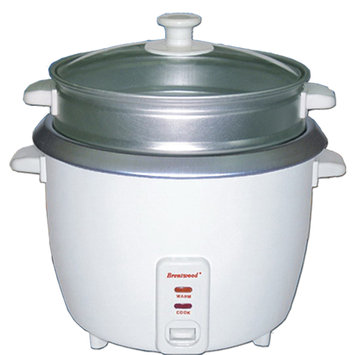 Brentwood Appliances TS180S 8 Cup Rice Cooker With Steamer White