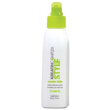 Keratin Complex Style Styling Oil for Unisex, 3 Ounce