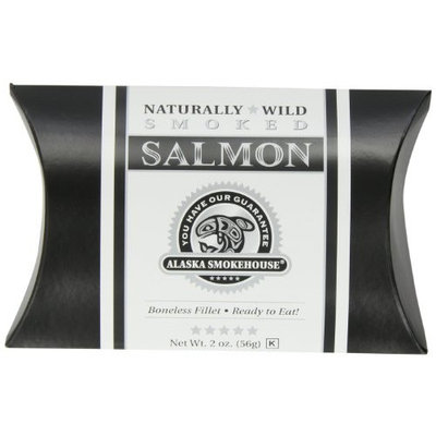 Alaska Smokehouse Smoked Salmon Fillet In A Black Box With A Tuxedo Wrap, 2 Ounce Boxes (Pack of 6)