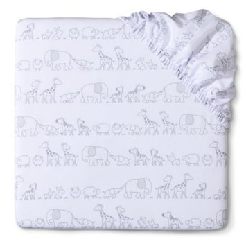 Two by Two Woven Fitted Crib Sheet by Circo