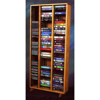 Wood Shed 24 in. Media Storage Tower (Dark)