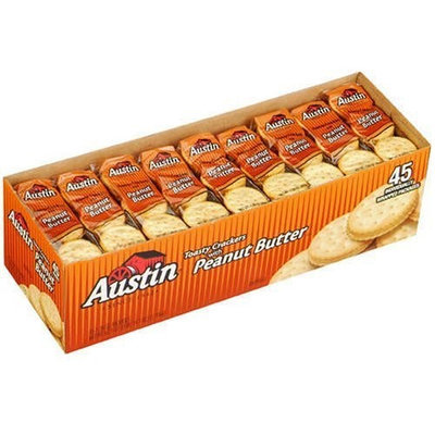 Austin Toasty Crackers With Peanut Butter 1.38oz 45 packages