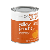 Guaranteed Value Yellow Cling Peaches in Light Syrup