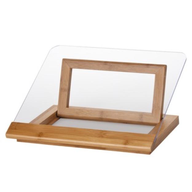 Lipper International Bamboo & Acrylic Cookbook Holder