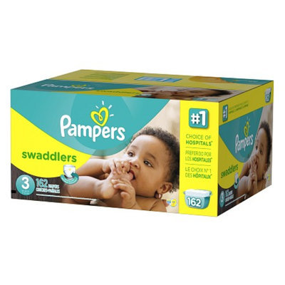 Pampers Swaddlers Diapers Economy Plus Pack Size 3 (162 Count)