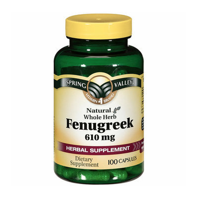 Spring Valley Natural Whole Herb 610mg Fenugreek Capsules