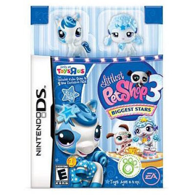 Electronic Arts Littlest Pet Shop Nintendo DS Biggest Stars Exclusive Video Game [Blue Team]