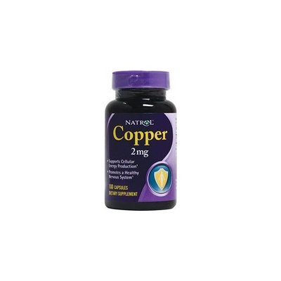 Natrol Copper -- 2 mg - 100 Capsules