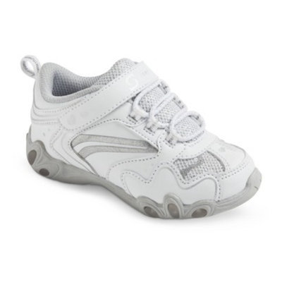 S SPORT BY SKECHERS Toddler Girl's White Teardrop Sneaker