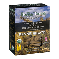 Bella Terra 8 Whole Grain Pasta With Milled Flaxseed Penne Rigate
