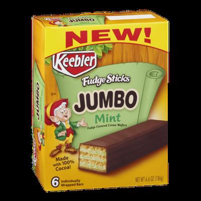 Keebler Jumbo Mint Fudge Sticks - 6 CT