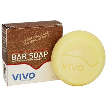 Vivo Natural Products Brazilian Acai and Pomegranate Bar Soap 4.50 Ounces
