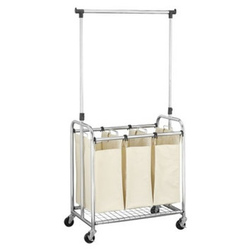 Household Essentials Triple Laundry Sorter with Removable Clothes