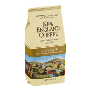 New England Coffee French Vanilla Medium Roasted Freshly Ground