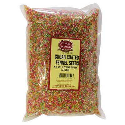 Spicy World Sugar Coated Fennel Seeds Bulk, 5-Pounds