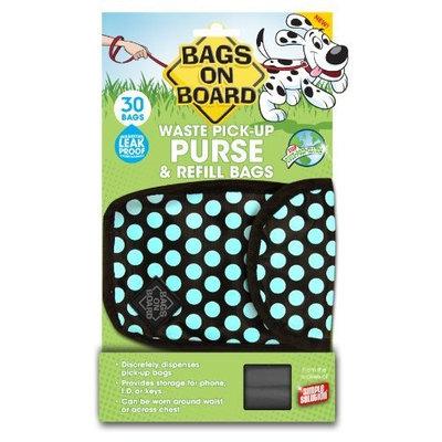 Bags On Board Purse Dispenser, 30 Bags, Polka Dot