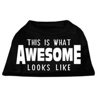 Ahi This is What Awesome Looks Like Dog Shirt Black Med (12)