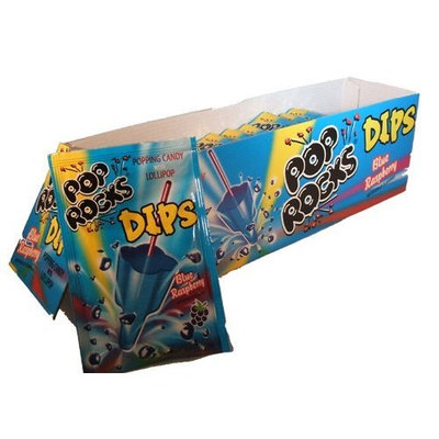 Pop Rocks Dips Blue Raspberry:18 Count