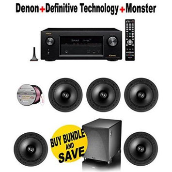 Electronics Expo Denon AVRX3200W 7.2 Channel Full 4K Ultra HD A V Receiver with Bluetooth and Wi Fi 5 Definitive Te