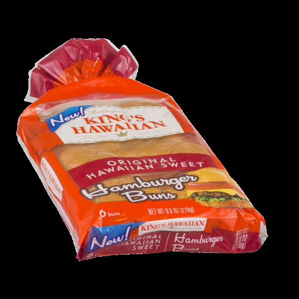 King's Hawaiian Hamburger Buns Original Hawaiian Sweet - 6 CT