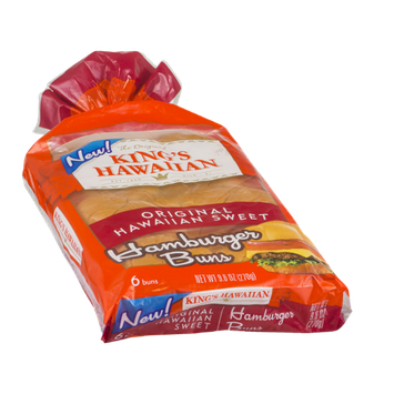 King's Hawaiian Hamburger Buns Original Hawaiian Sweet - 6 CT