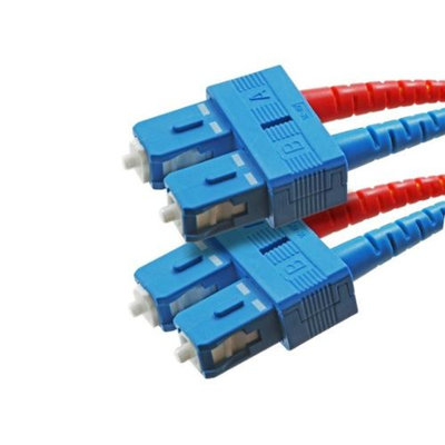 Monoprice Fiber Optic Cable, SC/SC, Single Mode, Duplex - 30 meter (9/125 Type) - Yellow