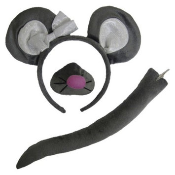 Tom's Toys Halloween Girls Mouse Headband Ears and Tail