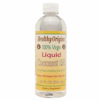 Healthy Origins 100% Virgin Liquid Coconut Oil, 20 fl oz