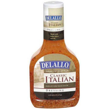 Delallo Drssng Italian Classic 16 Oz -Pack of 6